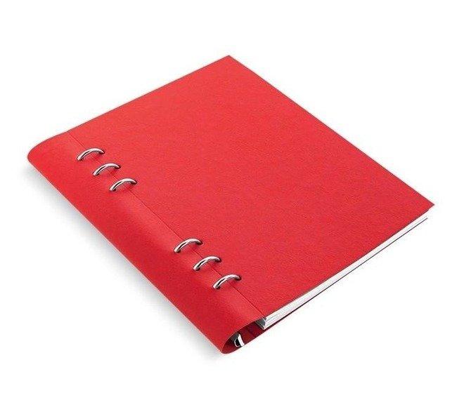 Clipbook fILOFAX CLASSIC A5, notatnik i terminarze bez dat, czerwona okładka