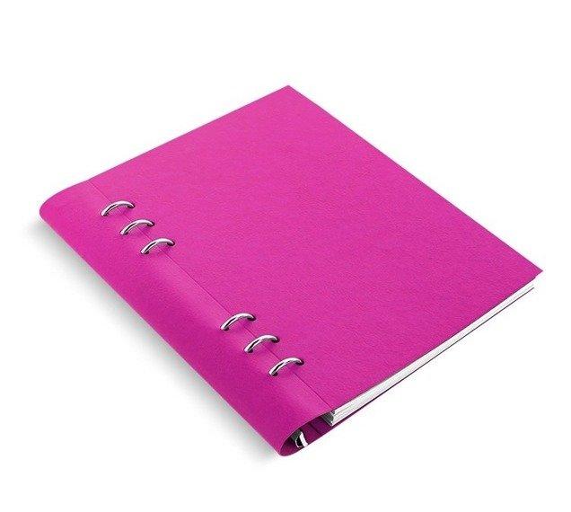 Clipbook fILOFAX CLASSIC A5, notatnik i terminarze bez dat, okładka w kolorze fuksji