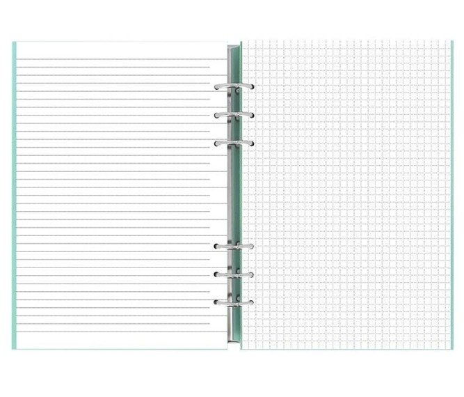 Clipbook fILOFAX CLASSIC A5, notatnik i terminarze bez dat, okładka w kolorze pastelowym zielonym