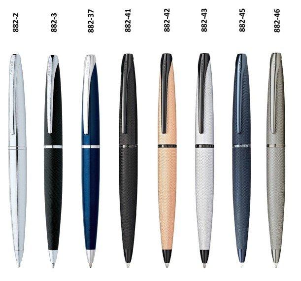 Długopis Cross ATX chrom, elementy czarne