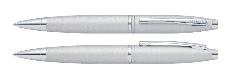 Długopis Cross Calais satynowy chrom, elementy chromowane