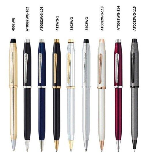 Długopis Cross Century II czarny, elementy anodyzowane rodem