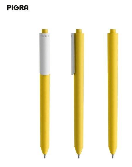 Długopis PIGRA P03, żółty z białym klipsem