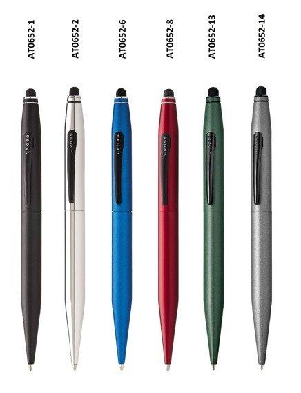 Długopis ze stylusem Cross Tech2 czerwony, elementy czarne