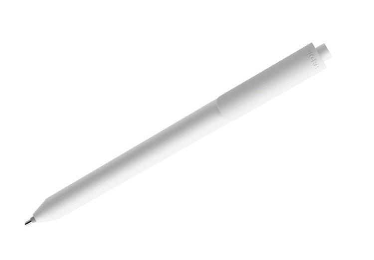 Długopis żelowy PIGRA P03, biały z białym klipsem