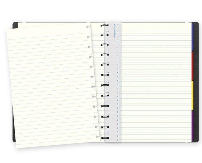 Notebook fILOFAX CLASSIC A4 blok w linie, czarny