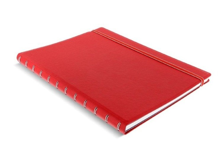 Notebook fILOFAX CLASSIC A4 blok w linie, czerwony