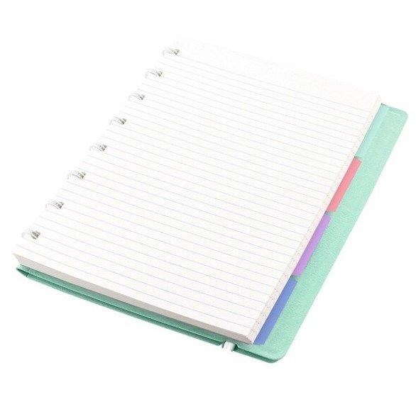 Notebook fILOFAX CLASSIC Pastels A5 blok w linie, pastelowy zielony