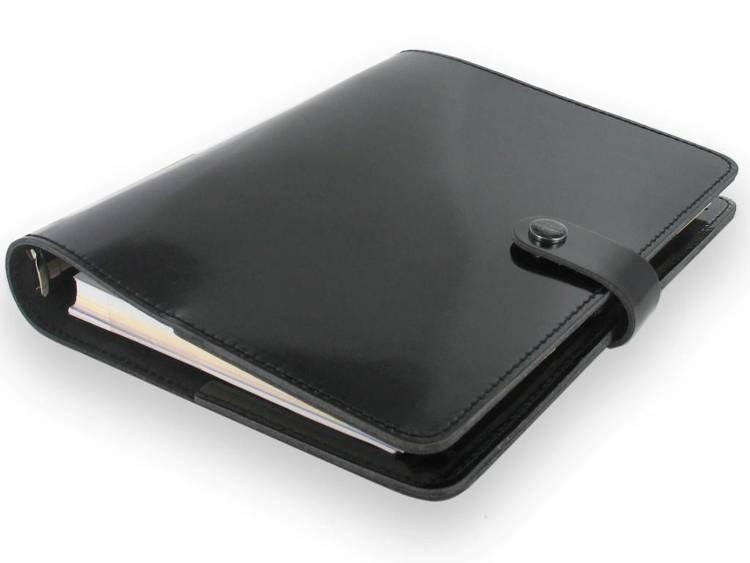 Organizer fILOFAX The ORIGINAL A5, skóra naturalna w kolorze czarnym
