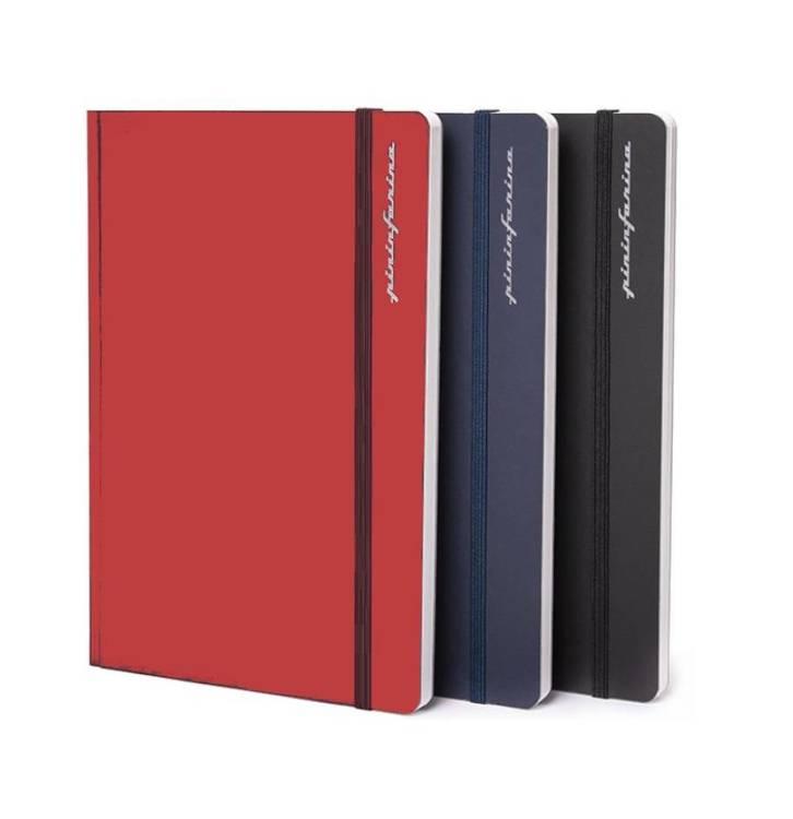PININFARINA Segno Notebook Stone Paper, notes z kamienia, niebieska okładka, linie