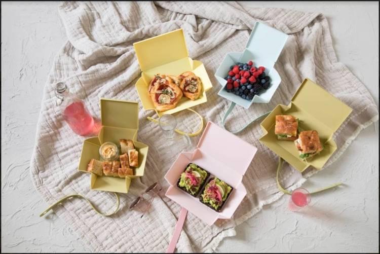 Uhmm Box 01 Prostokątne pudełko na żywność, różowe